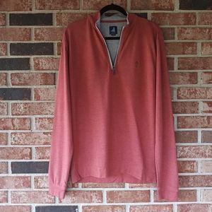 Johnnie O Pink Grey Quarter Zip Cotton Jacket L